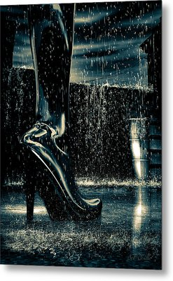 Shiny Boots Of Leather Metal Print