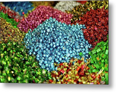 Shiny Sweets In Spice Market Metal Print by Image by Damian Bettles