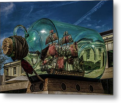 Ship In A Bottle Metal Print by Martin Newman