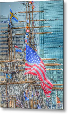 Ship In Baltimore Harbor Metal Print by Marianna Mills