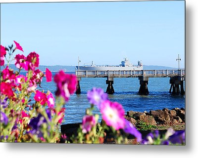 Ship On The Pier Metal Print by Sergey  Nassyrov