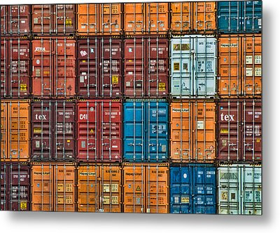 Shipping Containers Metal Print