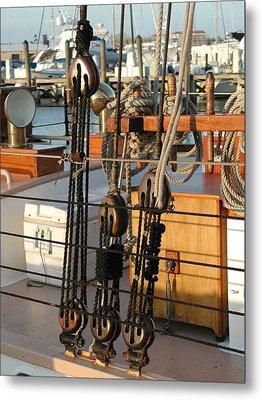 Ship's Rigging Metal Print