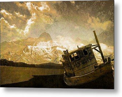 Shipwreck - Reload Metal Print by Jeff Burgess