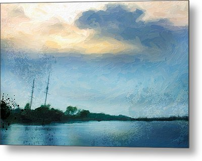 Shipwreck From A Distance 1 Metal Print by Chamira Young