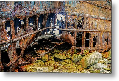 Shipwreck On Inisheer 3 Metal Print by Lexa Harpell