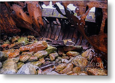 Shipwreck On Inisheer 4 Metal Print by Lexa Harpell