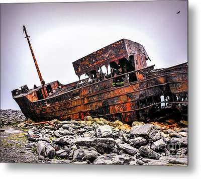 Shipwreck On Inisheer 6 Metal Print by Lexa Harpell