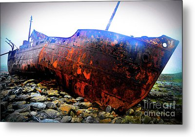 Shipwreck On Inisheer Metal Print by Lexa Harpell