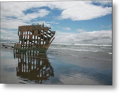 Metal Print featuring the photograph Shipwreck by Elvira Butler