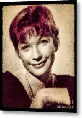 Shirley Maclaine, Hollywood Actress By John Springfield Metal Print