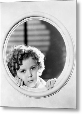 Shirley Temple (1928-2014) Metal Print by Granger