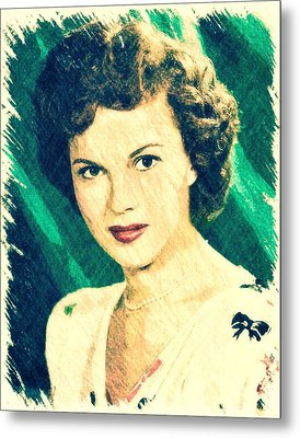 Shirley Temple By John Springfield Metal Print by John Springfield