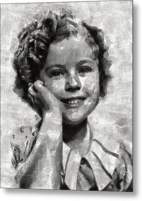 Shirley Temple By Mary Bassett Metal Print by Mary Bassett