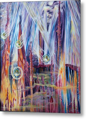 Shivuot- Receiving The Light From The Universe Metal Print