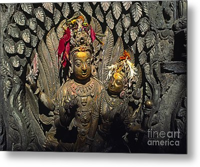 Shiva And Parvati - Pattan Royal Palace Nepal Metal Print