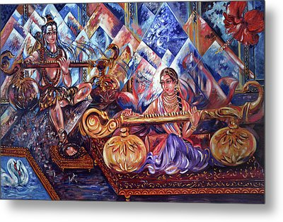 Shiva Parvati Metal Print