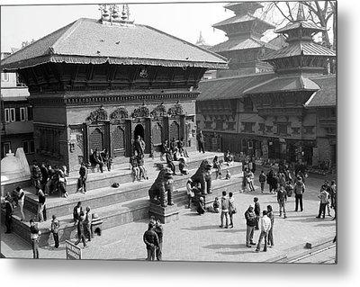 Shiva Parvati Temple, Durbar Square, Kathmandu Metal Print