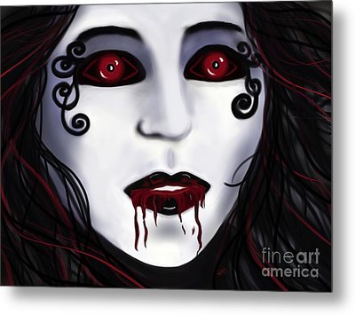 Shock At First Bite Metal Print