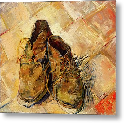 Metal Print featuring the painting Shoes                                   by Vincent van Gogh