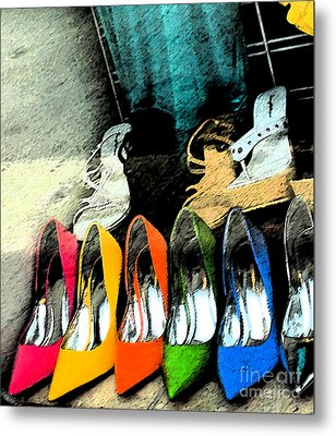 Shoes Metal Print by Gary Everson