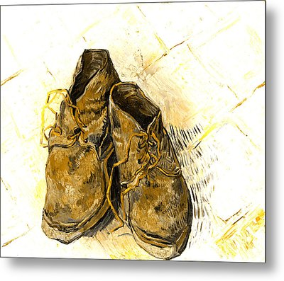 Shoes Metal Print by John Stephens