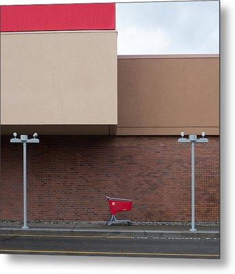 Shopping Cart Metal Print by Klaus Lenzen