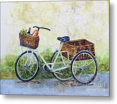 Shopping Day In Lucca Italy Metal Print by Bonnie Rinier