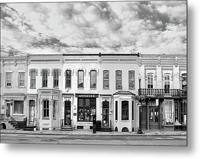 Metal Print featuring the photograph Shops by Mitch Cat