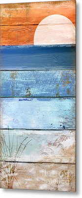 Shore And Sunset Metal Print by Mindy Sommers