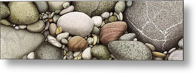Shore Stones Metal Print by JQ Licensing