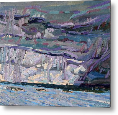 Shore To Shore Showers Metal Print by Phil Chadwick