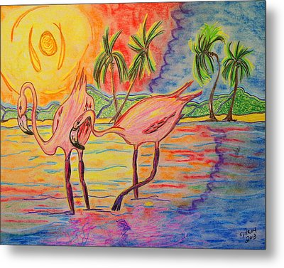 Shorebirds Metal Print