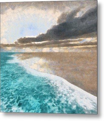 Shoreline Painted Metal Print