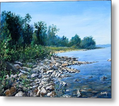 Shoreline Metal Print by William  Brody
