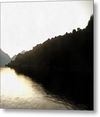Shores Of Darkness Metal Print by Tracey Harrington-Simpson