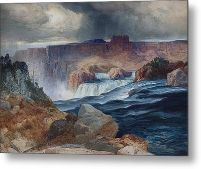 Shoshone Falls Idaho Metal Print by Thomas Moran