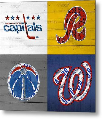 Shout To #washingtondc #capitals Metal Print by Design Turnpike