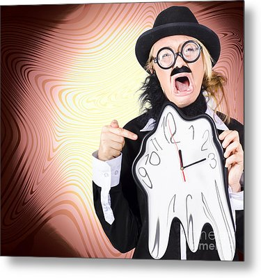 Shouting Businessman Stressed From Rush Hour Metal Print by Jorgo Photography - Wall Art Gallery