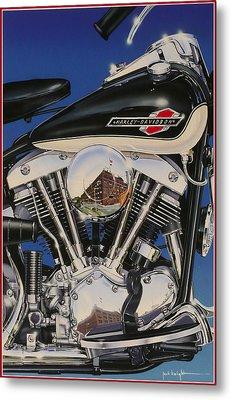 Shovelhead Motor Metal Print by Jack Knight