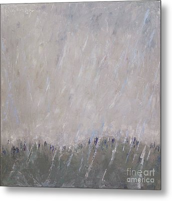 Shower In The Field Metal Print by Becky Kim