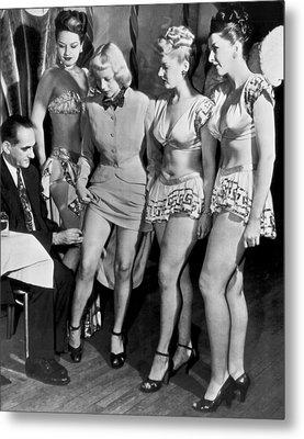 Showgirls Get Smallpox Shots Metal Print by Underwood Archives