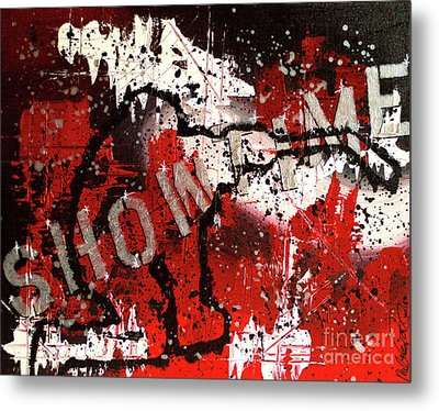 Metal Print featuring the painting Showtime At The Madhouse by Melissa Goodrich