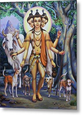 Shree Dattatreya Metal Print by Vrindavan Das