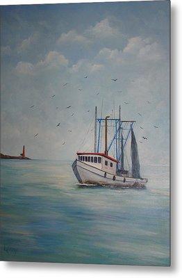 Shrimp Boat Metal Print by Carolyn Speer