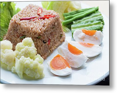 Shrimp Paste Fried Rice Metal Print by Atiketta Sangasaeng