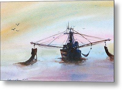Shrimp Trawler Metal Print