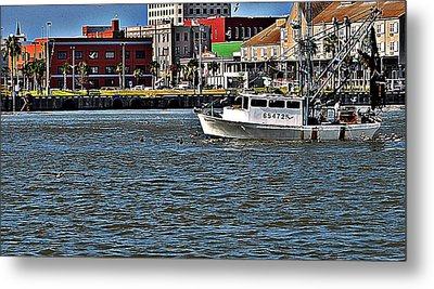 Metal Print featuring the photograph Shrimper by John Collins