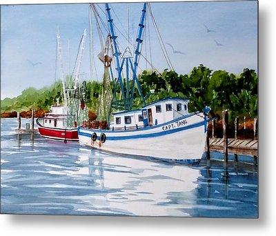 Shrimpers Metal Print