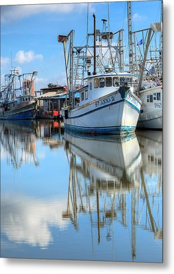 Shrimping In South Louisiana  Metal Print by JC Findley